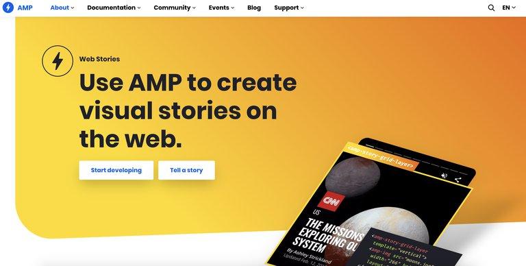 AMP web story