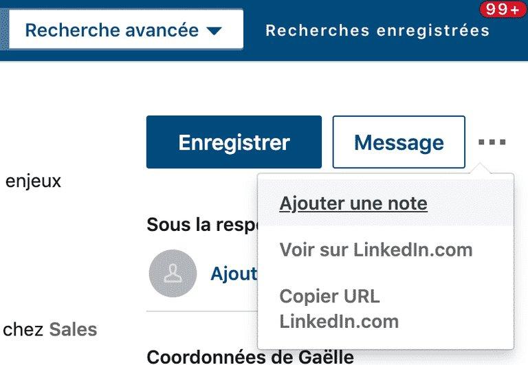 Annoter un profil sur Linkedin Sales Navigator