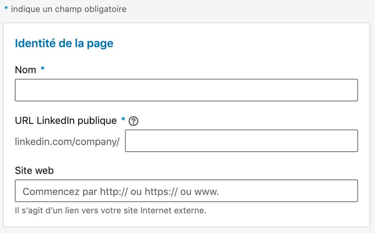 créer une page linkedin