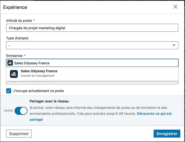 Créer une page entreprise linkedin