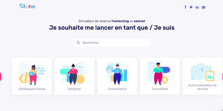 Content marketing exemle Shine banque