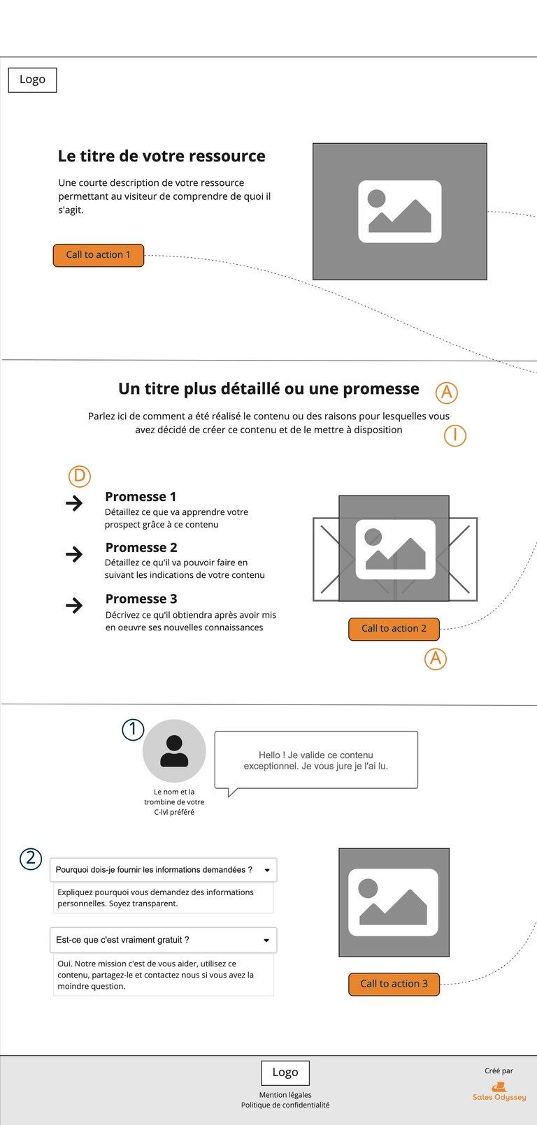 Landing Page - Template Téléchargement de livre blanc