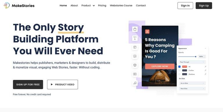 L'outil makestories pour vos web stories
