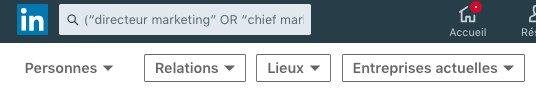 Utiliser les parenthèses dans votre recherche Linkedin