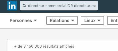 """Utiliser l'opérateur booléen """"OR"""" avec la recherche Linkedin"""